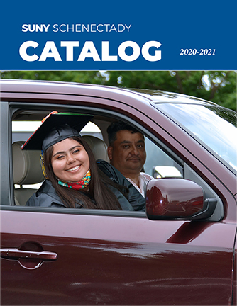 Cover of the 2020-2021 College Catalog, links to the file on Issuu.com
