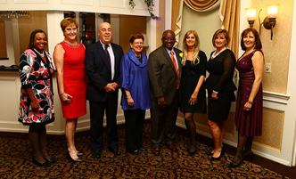 President Moono and members of the Foundation Board at a fundraising dinner.