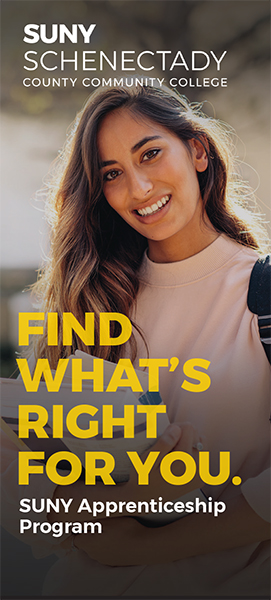 "Cover of a brochure showing a young woman and the title, ""Find What's Right for You."""
